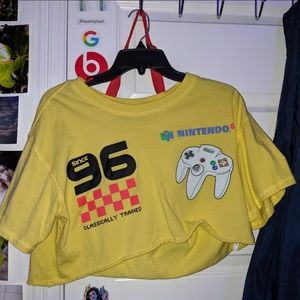 Nintendo 64 crop top